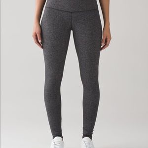Lululemon Wunder Under Pant Heathered Herringbone